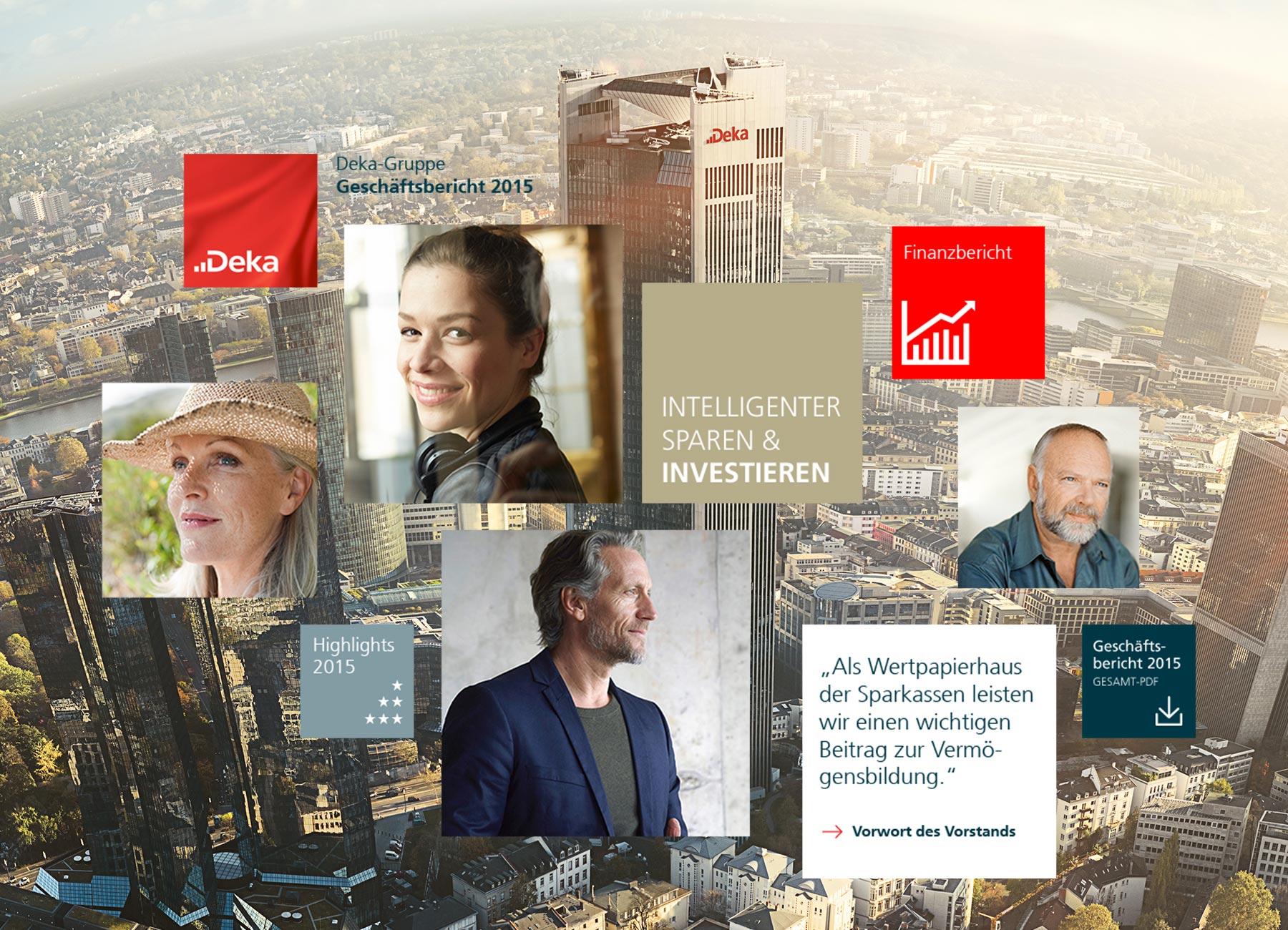 Deka Bank Online-Geschäftsbericht
