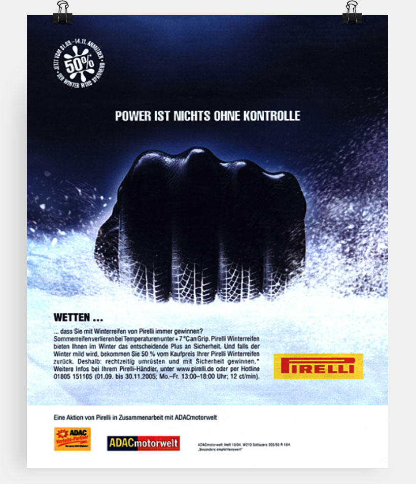 Pirelli 7-Grad-Kampagne