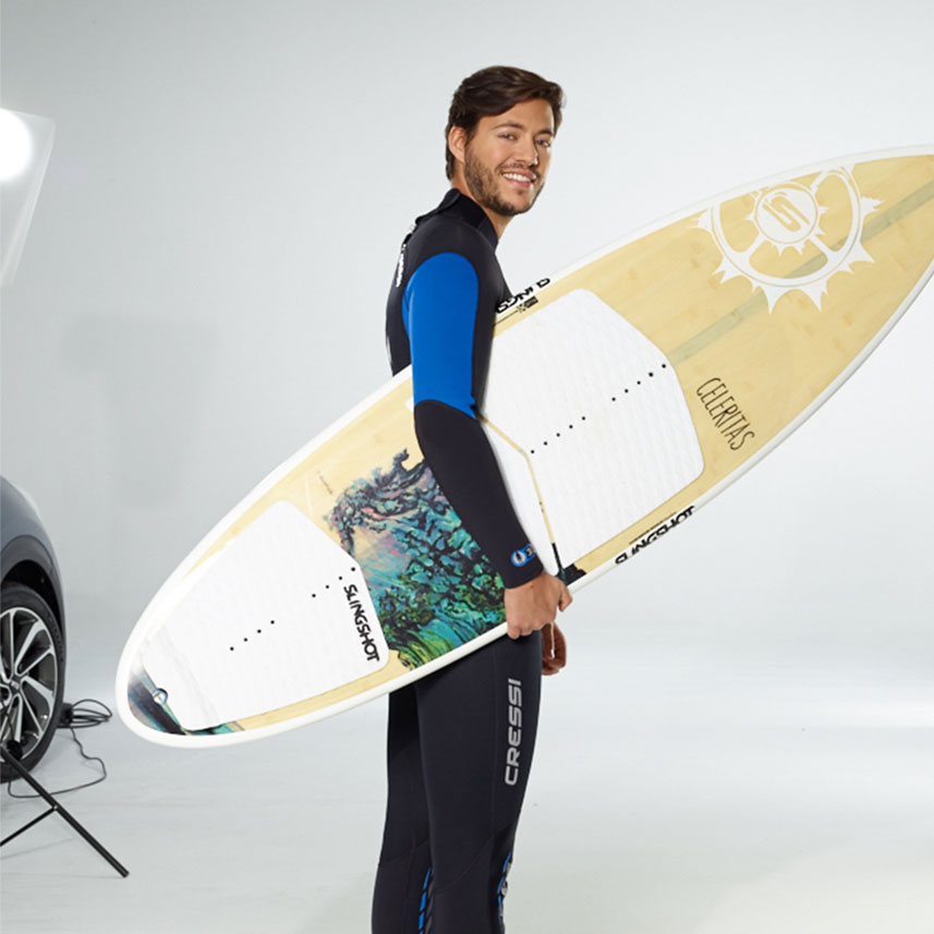 KIA Kampagne Shooting Surfer Board